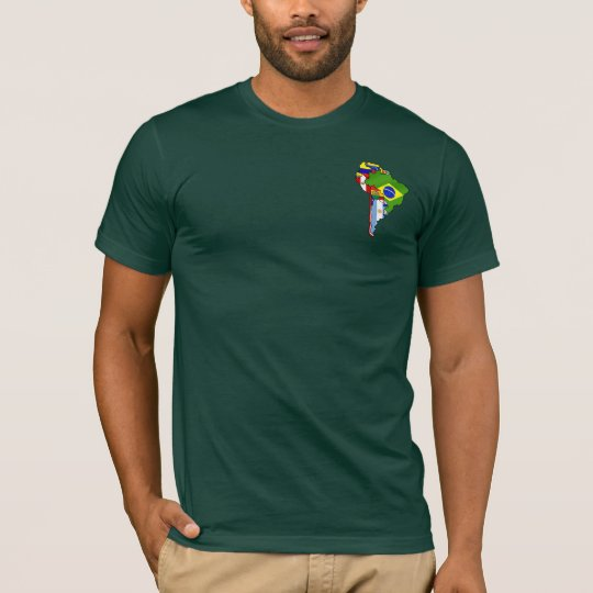 South american flags 2014 South America flag map T-Shirt