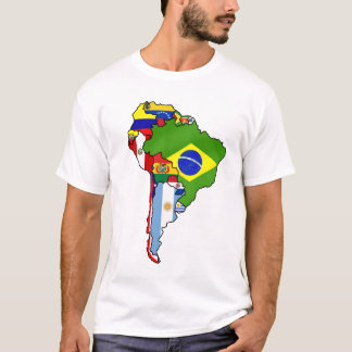 South American Flags of South America Flag Map T-Shirt