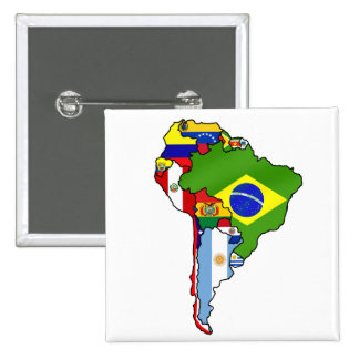 South American flags of South America Map Pin