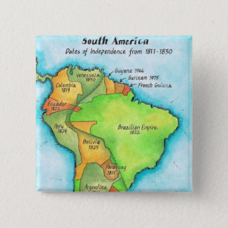 South American Independence 15 Cm Square Badge