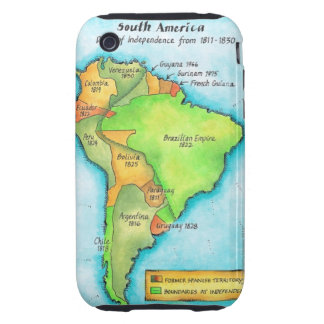 South American Independence iPhone 3 Tough Case
