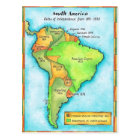 South American Independence Postcard