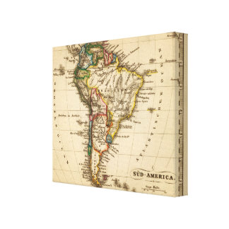South American Map Canvas Print