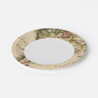 South American Map Paper Plate