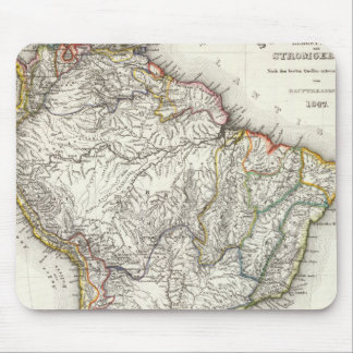 South American Rivers and Mountains Mouse Mat