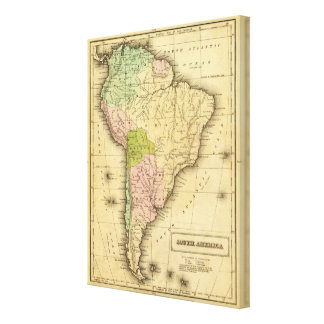 South AmericaOlney Map Canvas Print