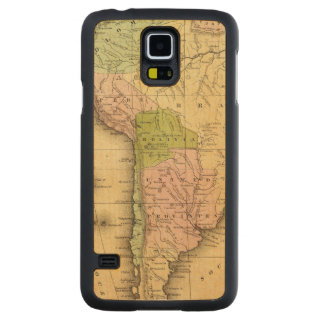 South AmericaOlney Map Carved Maple Galaxy S5 Case