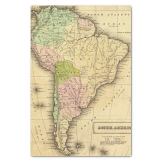 South AmericaOlney Map Tissue Paper