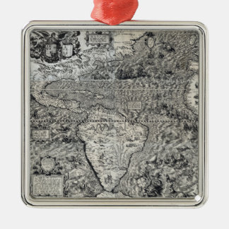 South and Part of North America - Panoramic Christmas Ornament