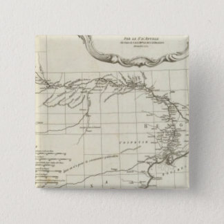 South Asian Engraved Map 15 Cm Square Badge