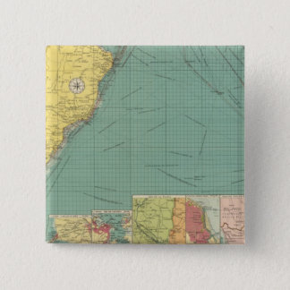 South Atlantic Ocean 15 Cm Square Badge