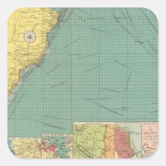South Atlantic Ocean Square Sticker