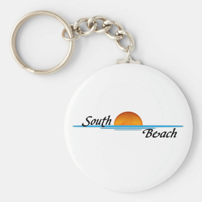 South Beach Basic Round Button Key Ring