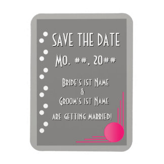 South Beach Deco Wedding (Save The Date) Rectangle Magnet