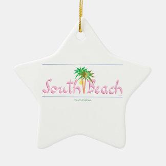 South Beach, FL Christmas Ornament