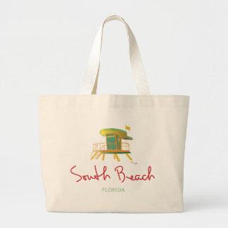 South Beach Lifeguard Station Jumbo Tote Bag