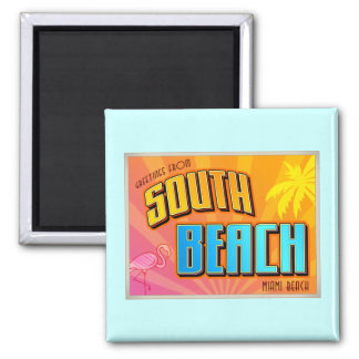 SOUTH BEACH SQUARE MAGNET
