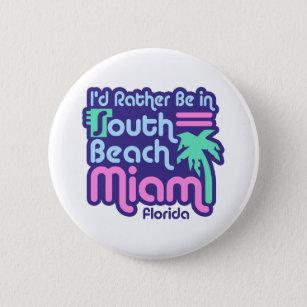 South Beach Miami 6 Cm Round Badge