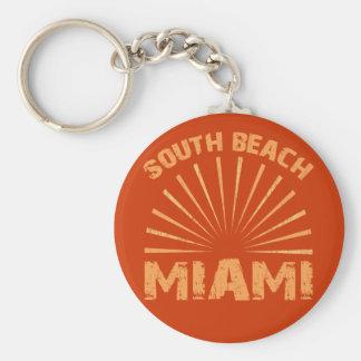 SOUTH BEACH MIAMI BASIC ROUND BUTTON KEY RING