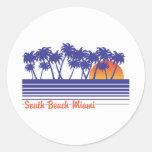 South Beach Miami Classic Round Sticker