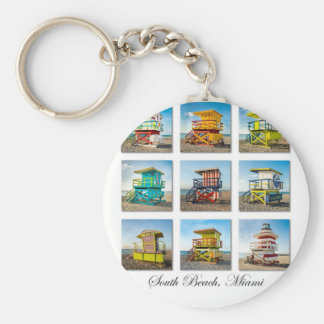 South Beach, Miami Life Guard Shacks Key Ring