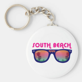 South Beach Miami sunglasses Basic Round Button Key Ring