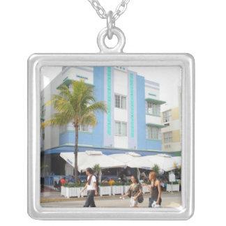 South Beach Square Pendant Necklace