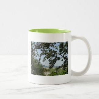 South Beach View Two-Tone Coffee Mug