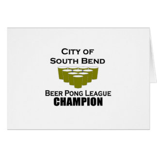 South Bend Beer Pong Champion Card