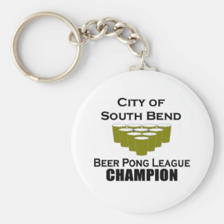 South Bend Beer Pong Champion Keychains