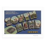 South Bend, Indiana - Large Letter Scenes Postcards