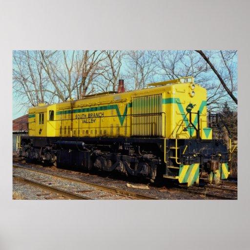 South Branch Valley Railroad Alco MRS-1 No. 28 Rom Print