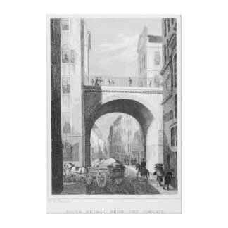 South Bridge from the Cowgate Canvas Print