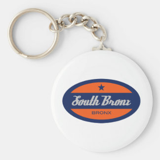 South Bronx Basic Round Button Key Ring