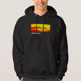 South Butte Black and Red Mountain Hoodie