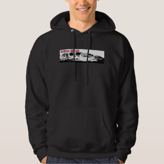 South Butte Mountain, Black White Hoodie