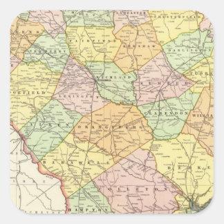 South Carolina 7 Square Sticker