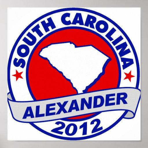 South Carolina Alexander Poster