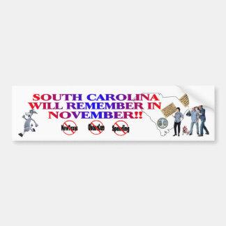 South Carolina Anti ObamaCare, New Taxes, Spending Bumper Sticker