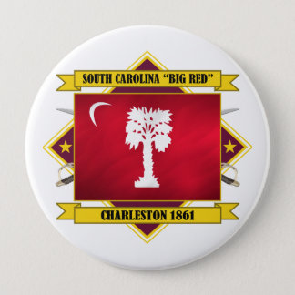 "South Carolina ""Big Red"" 10 Cm Round Badge"