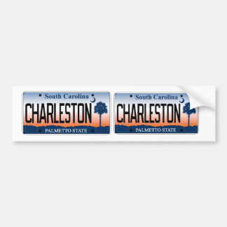South Carolina Charleston Sunrise license plate Bumper Sticker