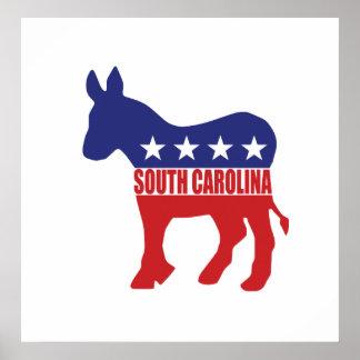 South Carolina Democrat Donkey Poster