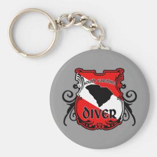 South Carolina Diver Keychain