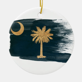South Carolina Flag Christmas Ornament