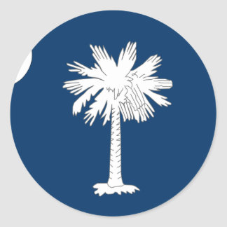 South Carolina Flag Classic Round Sticker