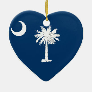 South Carolina Flag Heart Christmas Ornament