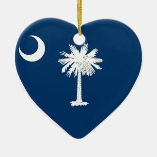 South Carolina Flag Heart Ceramic Heart Decoration