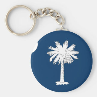 South Carolina Flag Key Ring