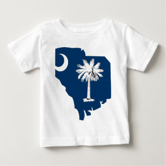 South Carolina Flag Map Baby T-Shirt