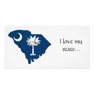 South Carolina Flag Map Photo Card Template